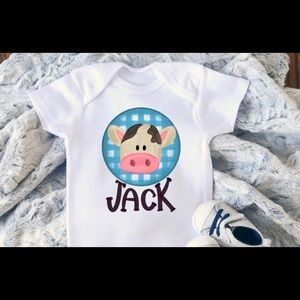 Other - Bow cow with name kids sizes